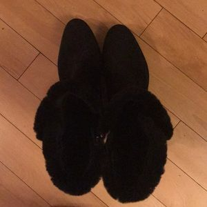 Aquatalia Shoes - Aquatalia Kalena Fur Lined Suede Booties
